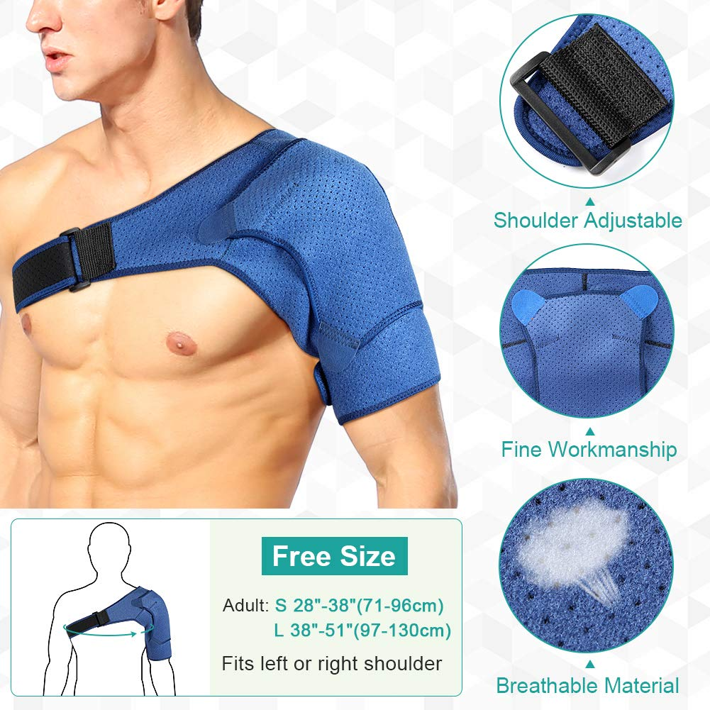 Rotator Cuff Support Stability Wrap for Dislocated AC Joint Tendonitis Shoulder Compression Sleeve Arthritis Labrum Tear Bursitis Shoulder Support for Women and Men