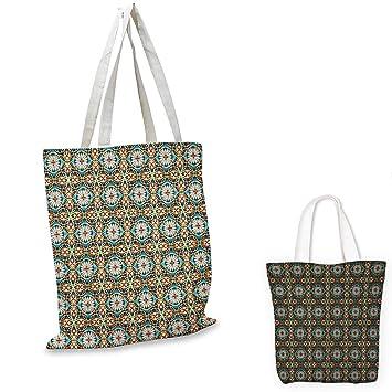 Bolsa de tela, diseño floral hippie, flores abstractas con ...