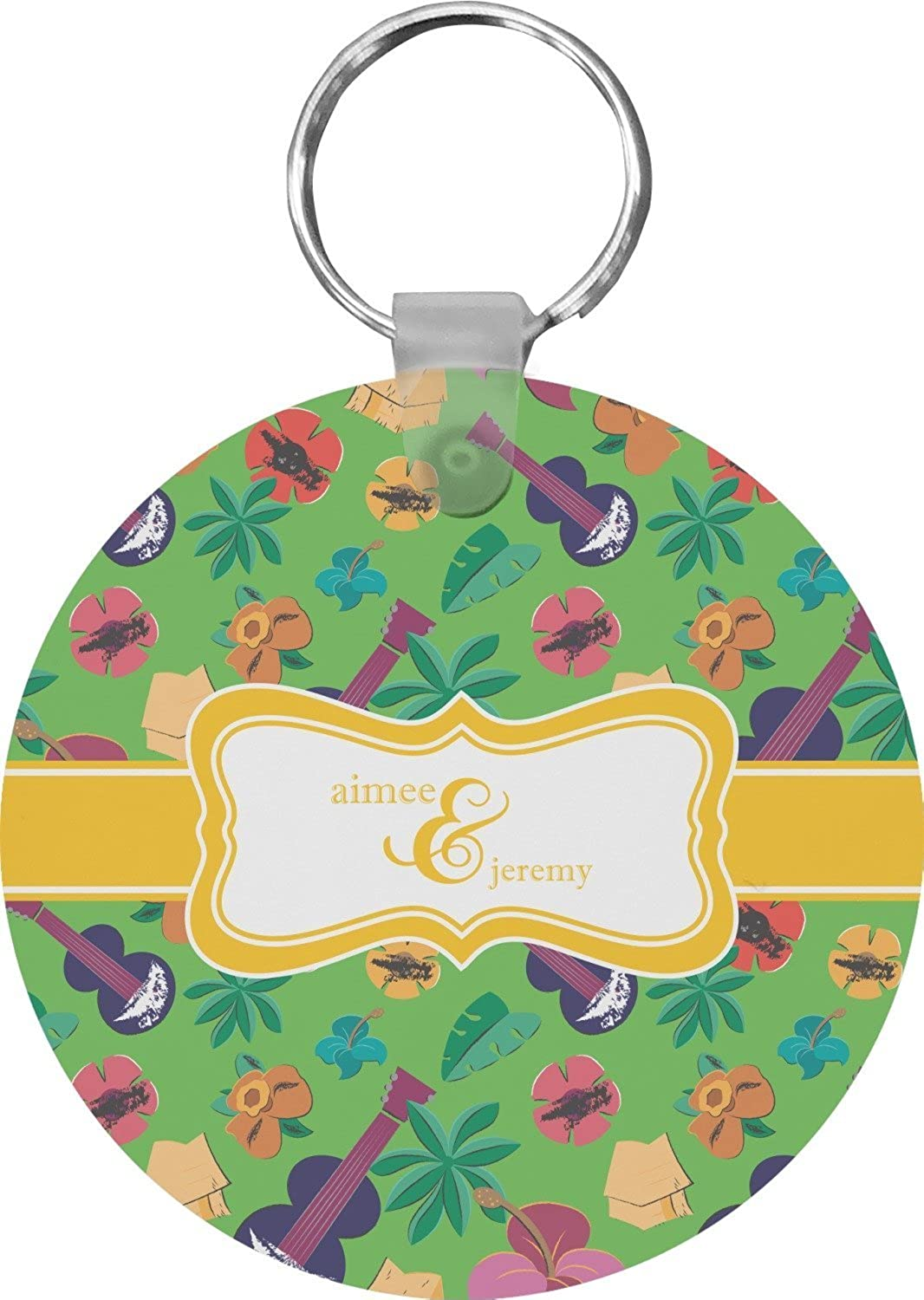 Luau Party Round Keychain (Personalized)