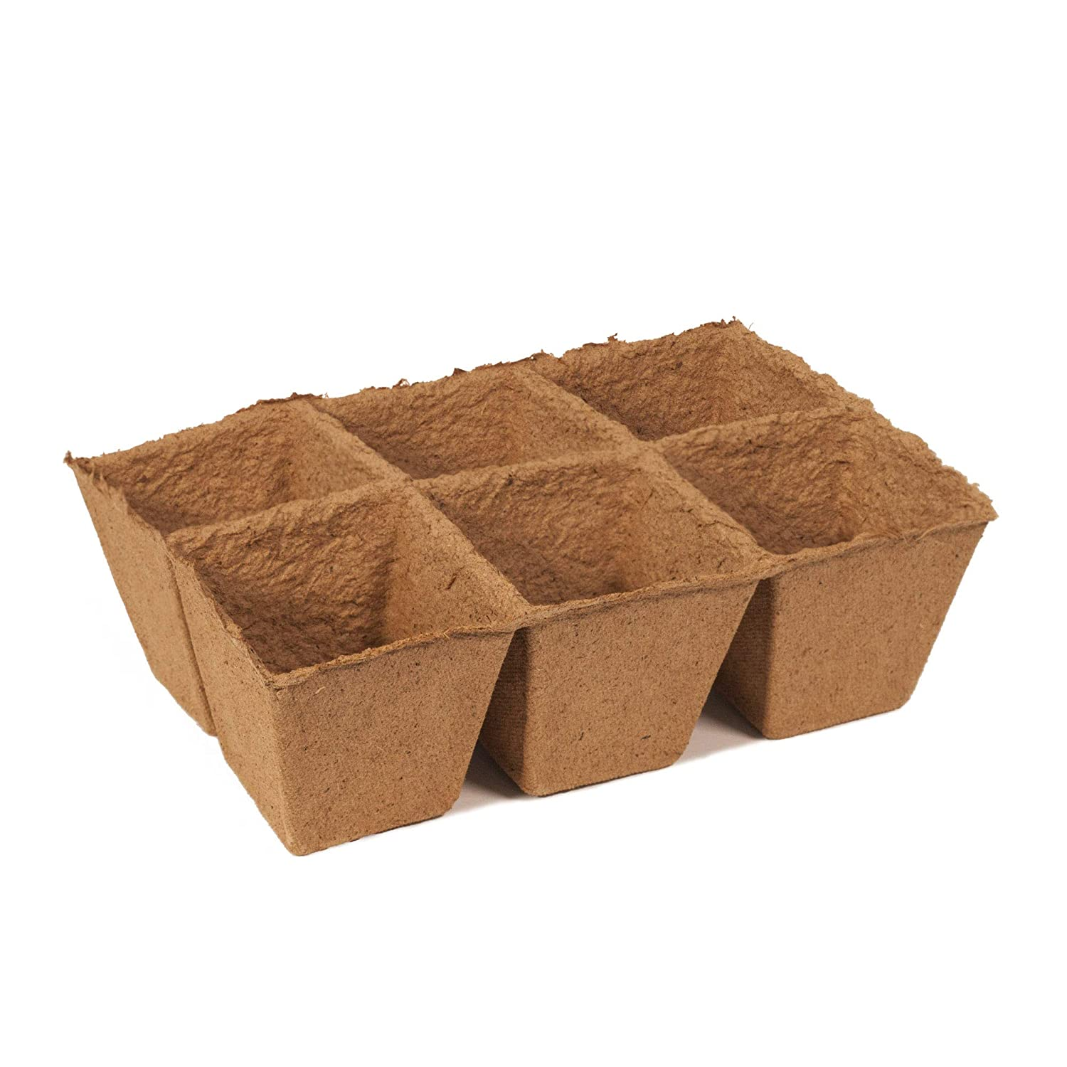 3 inch 30 Cell Pack Organic Biodegradable Pots Eco-Friendly Enhance Aeration Bonus 10 Plastic Plant Markers Daniels Plants 3 Inch Large Peat Pot Seedling Starter Trays Seed Germination Kit