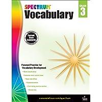 Spectrum Paperback Vocabulary Book, Grade 3, Ages 8-9