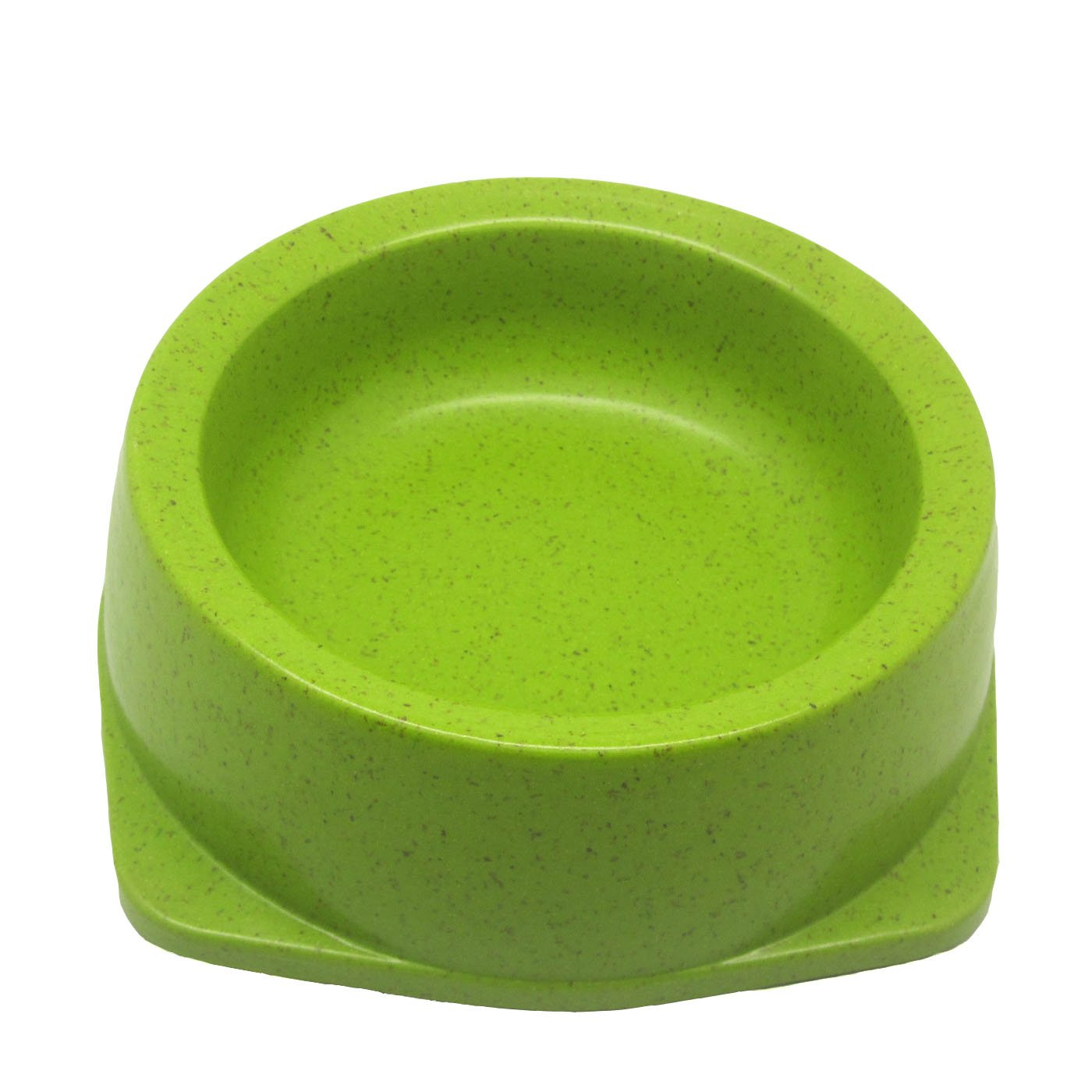 Alfie Pet by Petoga Couture - Qatie Bamboo Fiber Eco-Friendly Pet Round Bowl (for Dogs & Cats) - Color: Green, Size: L