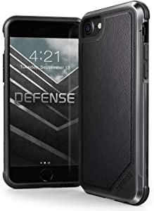 X-Doria, Compatible with Apple iPhone SE/8/7/6, Defense Lux - Military Grade Drop Tested Case for Apple iiPhone SE/8/7/6 (Black Leather)