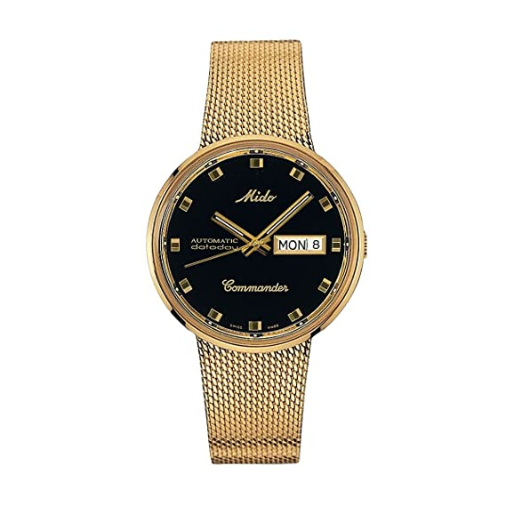 MIDO Commander I automático amarillo oro PVD 37 mm Unisex Reloj m842932813: Amazon.es: Relojes