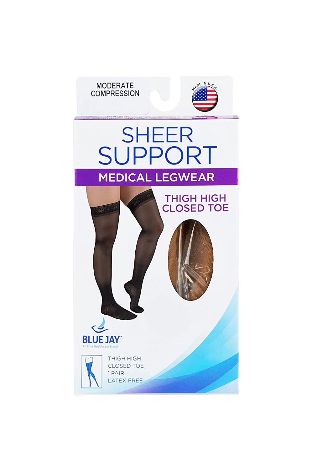 XX-Large 0.1 Pound Complete Medical Ladies/' Sheer Moderate Support 15-20 mmHg Thigh with Stay-top Complete Medical Manufacturing Group BJ380BG2X Complete Medical Ladies Sheer Moderate Support 15-20 mmHg Thigh with Stay-top Beige