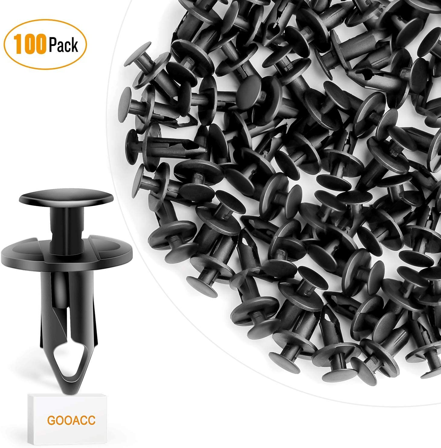 60 Pcs Fit 8mm Hole Plastic Fastener Push Type Clip For GM For Chevrolet For GMC