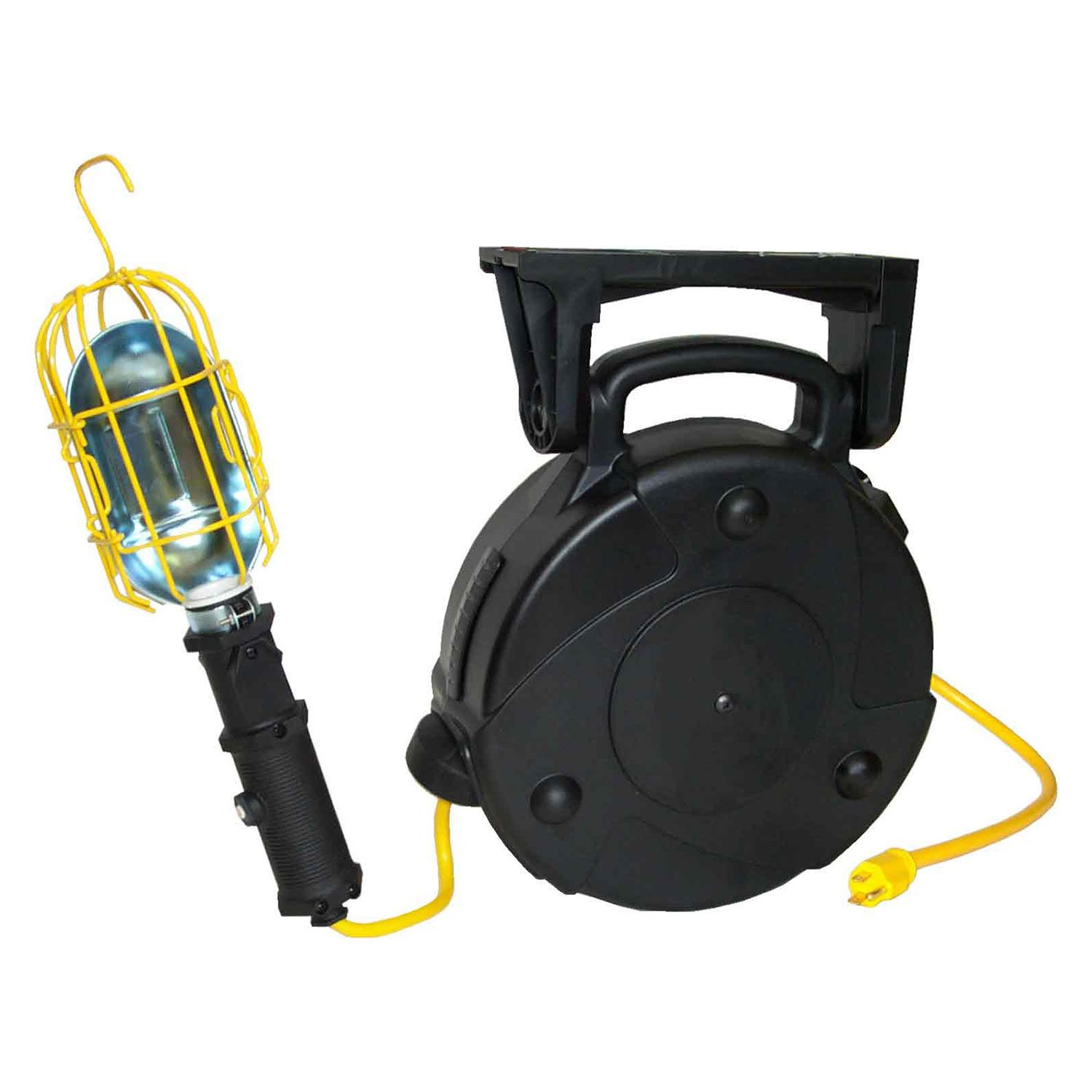 Lind Equipment 50' 14/3 SJTW Cable Reel, LE103 Heavy-Duty Incand. Work Light, 13A Outlet, 8050-103