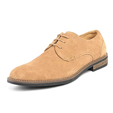 eded183e9c Bruno Marc Men s URBAN-08 Sand Suede Leather Lace Up Oxfords Shoes - 6.5 M