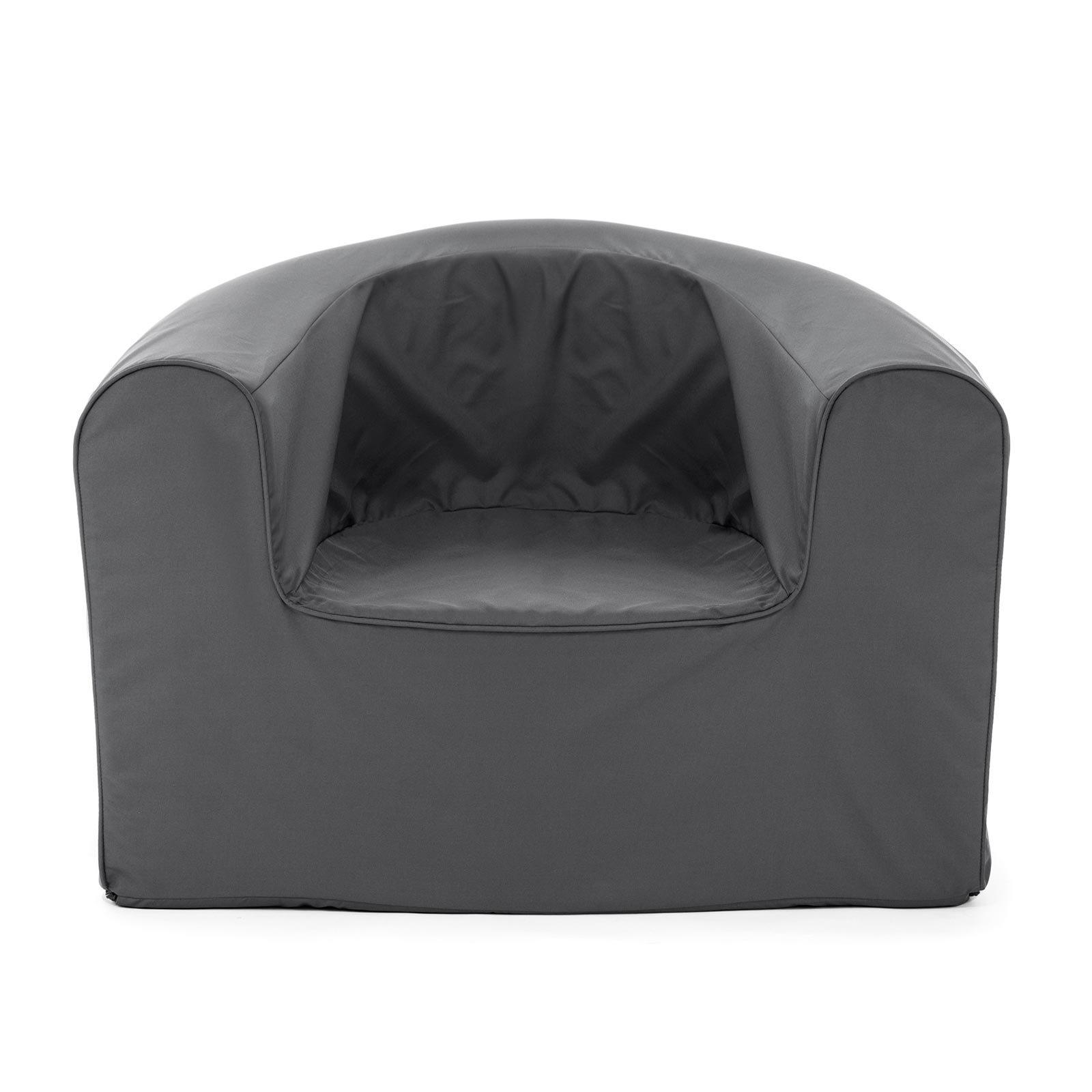 PopLounge Expandable Foam Furniture Armchair, Castlerock Gray, 35'' x 28'' x 26''