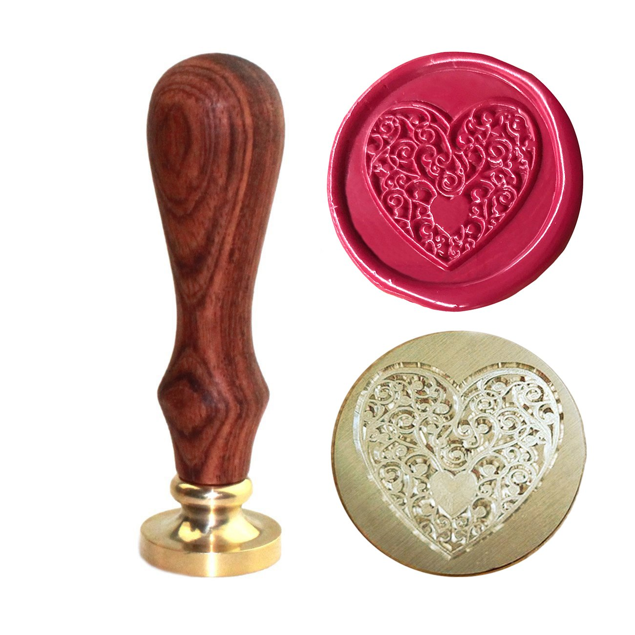 Bee Wax Seal Stamp, [Also Available in Other Patterns], Botokon Vintage Retro Brass Head Wooden Handle Removable Sealing Stamp, Ideal for Embellishment of Envelopes, Invitations, Wine Packages, etc 4336845604