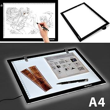 Skyblue-uk - Mesa de luz para dibujo (iluminación LED regulable ...