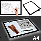 Skyblue-uk Tablette lumineuse Dessin Reglable Portable Reglable USB Table Lumineuse LED avec Eclairage du Panneau Format A4