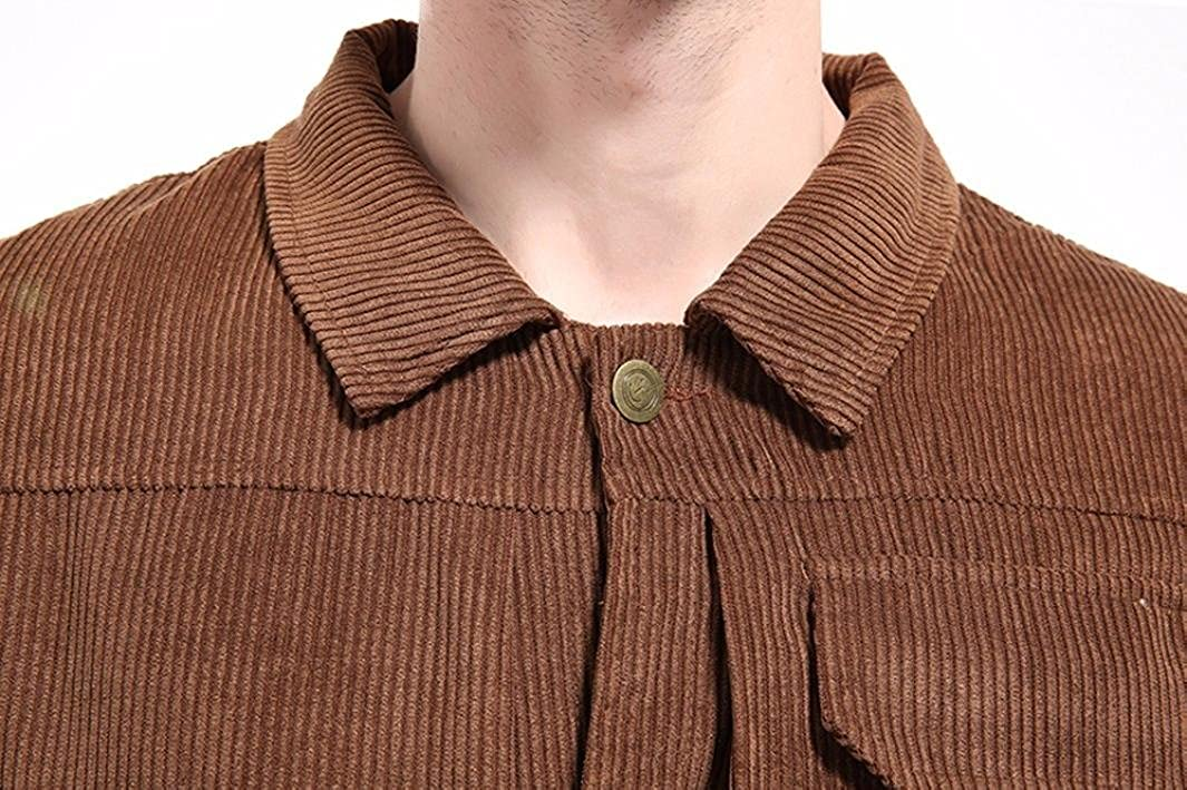 Amazon.com: WM & MW Corduroy Jacket,Mens Jacket Top Fashion Button-up Lapel Motorcycle Coat Outwear Top With Pocket: Clothing