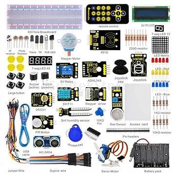 Gazechimp Conjunto Tablero de 830 Hoyos Control Remoto Aprendizaje de Arranque para Arduino (sin Tarjeta
