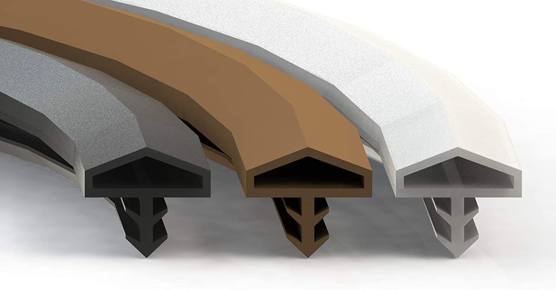 junta de sellado universal perfil de sellado Junta de goma para puerta y ventana sellado para madera Marr/ón