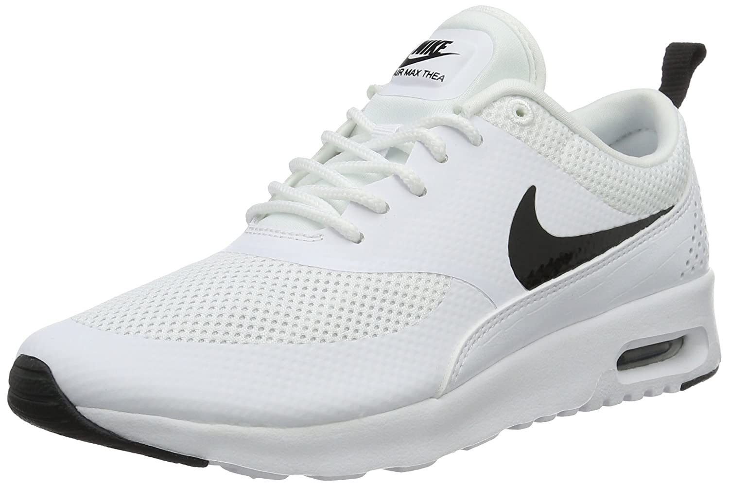 NIKE Women's Air Max Thea Low-Top Sneakers, Black B0187PYB7W 10 B(M) US|White/Black
