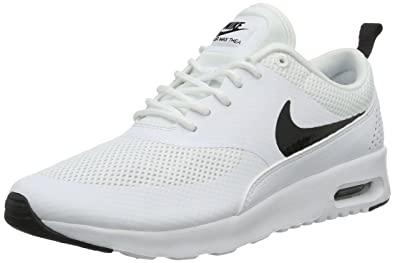 nike running shoes white air max. nike women\u0027s air max thea white/black running shoe 5 women us shoes white