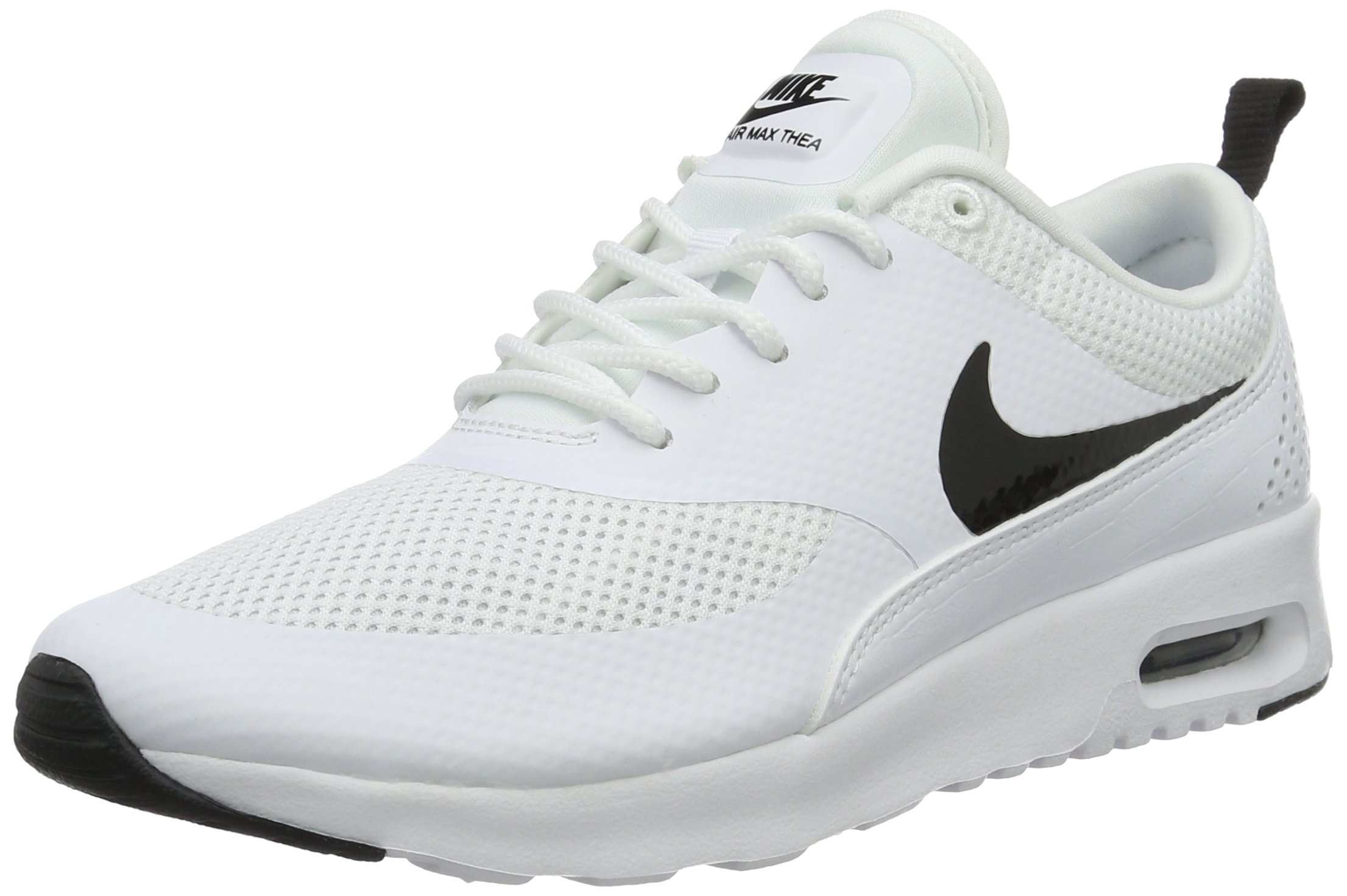 b51644ccc0b75 Galleon - Nike Womens Air Max Thea Running Shoes White/Black 599409-103 Size  9.5