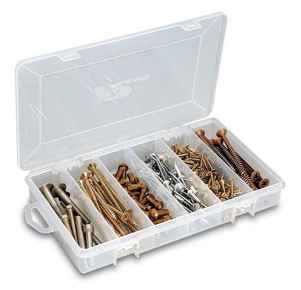 Plano 34501TT 3450 Transparent Polypropylene Small Parts Organiser
