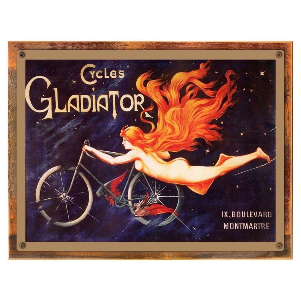 Gladiator Cyclesメタルサイン:自転車装飾壁のアクセントにキッチン 12