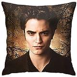 HOJJP Edward Cullen-Twilight Pillow Fashionable Zipper Square Pillowcase Novel Decorative Pillowcase Sitting Room Cushion Sof