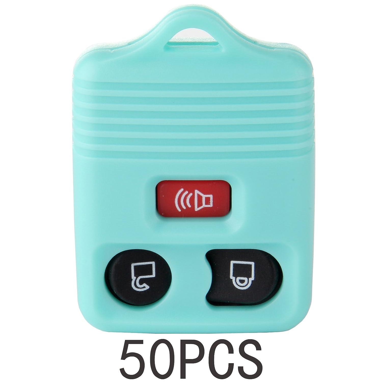 ECCPP 50 x新しい交換キーレスリモートキーFobシェルケースボタン車トラックパッドfor cwtwbiu212 cwtwb1u331 gq43vt11t (green-3btn) B07BC8LD6T