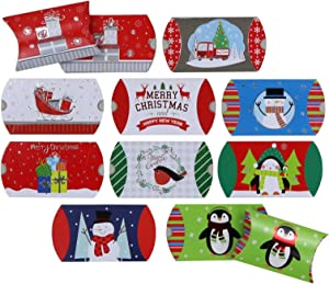 Christmas Gift Card Pillow Boxes (50-Count) by Iconikal