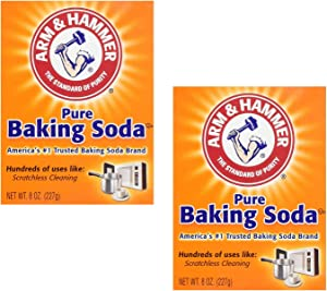Arm & Hammer Pure Baking Soda, 8 oz (Pack of 2)