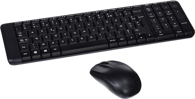 Logitech MK220 Combo Teclado y Ratón Inalámbrico para Windows, 2,4 ...