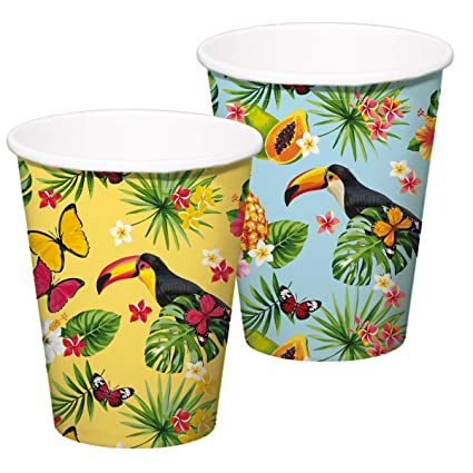 8 Vasos de Fiesta * Tucan * para Fiesta temática o ...