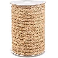 Henneptouw jute touw 10 mm jute touw dik voor handwerk, huisdecoratie, tuinieren, bundeling (15 meter)