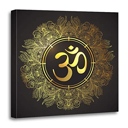 Amazon.com: Emvency Canvas Prints Square 20x20 Inches Hindu ...
