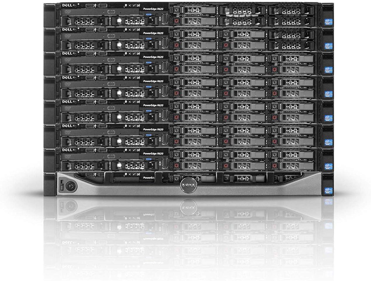 Dell POwerEdge R620 Server 2X E5-2650 16 Cores 96GB H710p 8X 600GB SAS Drives (Renewed)