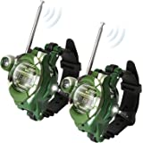 Pack of 2 Little Two Way Radio Transceiver Walkie Talkies Toys 130 Meters Long Range UHF 462.550-467.7125MHz Best Gift for Kids Outdoor Activities (Wrist Watch-1228-7)