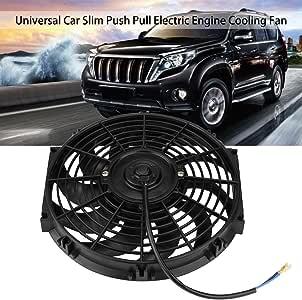12 Pulgadas 12V Universal Delgado Ventilador Eléctrico para Enfriamiento de Motor con Kit de Montaje: Amazon.es: Coche y moto