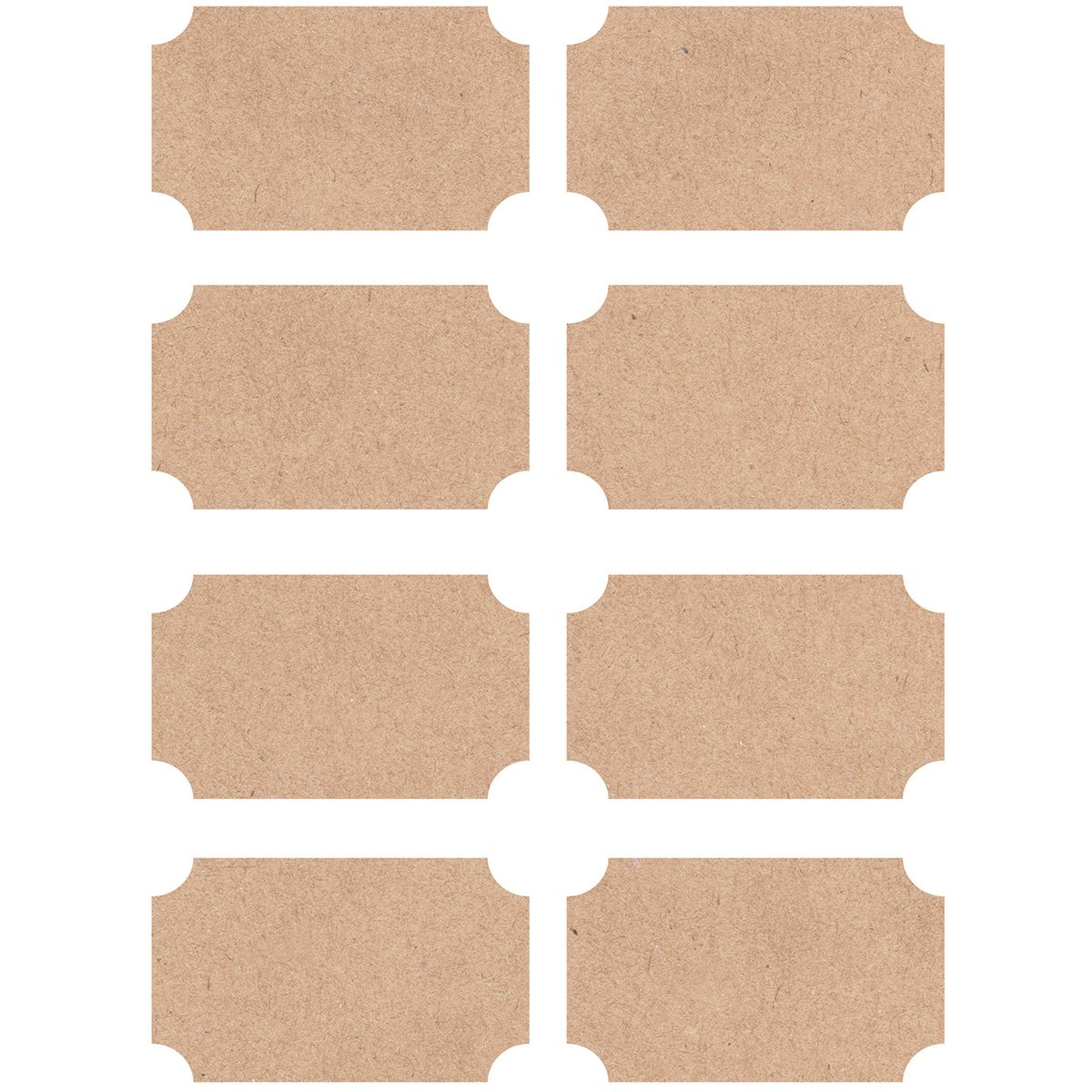 Kaisercraft Lucky Dip Kraft /Étiquettes Autocollants 2,5/x 3,8/cm
