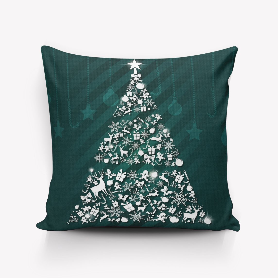 Decorative Rustic Old Barn Wood Art,merry christmas gifts Pillowcases Square Cushion Cover for Home Decor 20x20inch Two sides