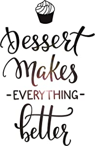 Vinyl Wall Decal Dessert Quote Bakery Shop Decor Window Lettering Stickers Mural Large Decor (ig5468)