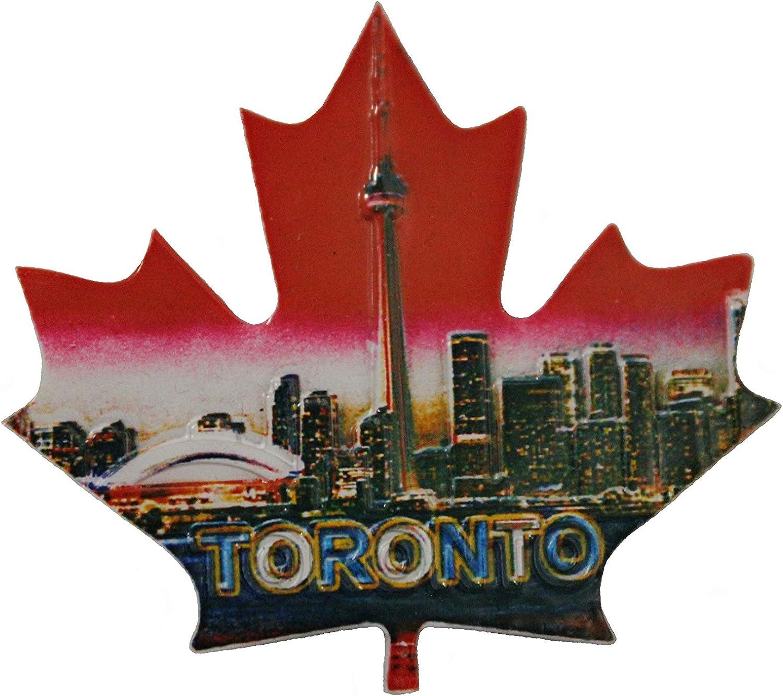 "Toronto Maple Leaf CN Tower Landscape Fridge Magnet .Size : 3"" x 2.75"" Inch. New"