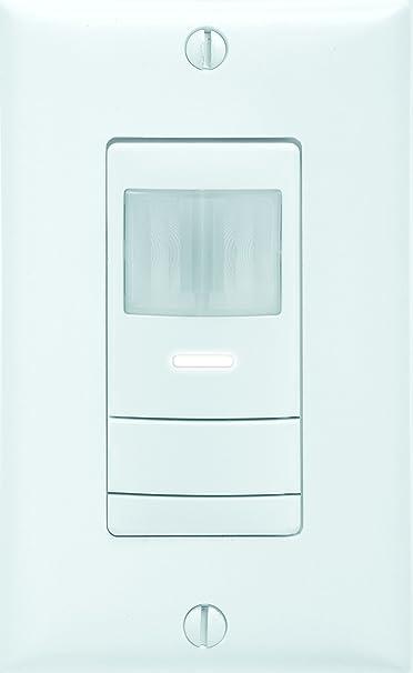 Sensor Switch Wsx Pdt Wh Led Wall Switch Occupancy Sensors Single Relay White Amazon Com