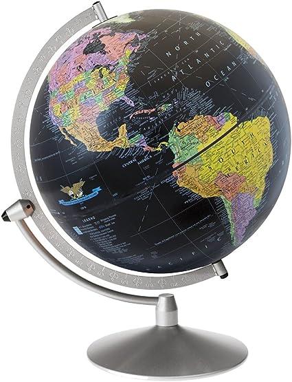 Replogle Midnight  Raised Relief Desktop Globe 12 Inch