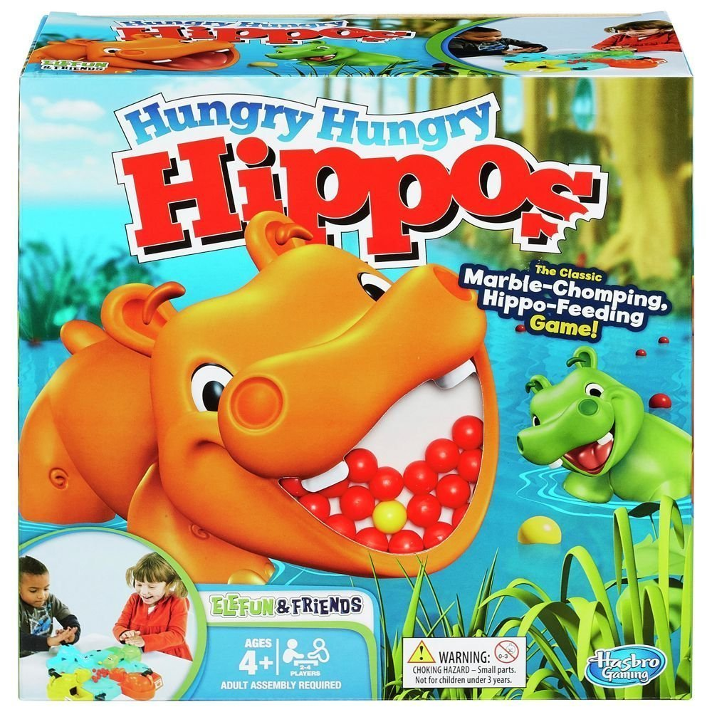 Hungry Hippos - English Version   Hasbro - Jeux 989361010
