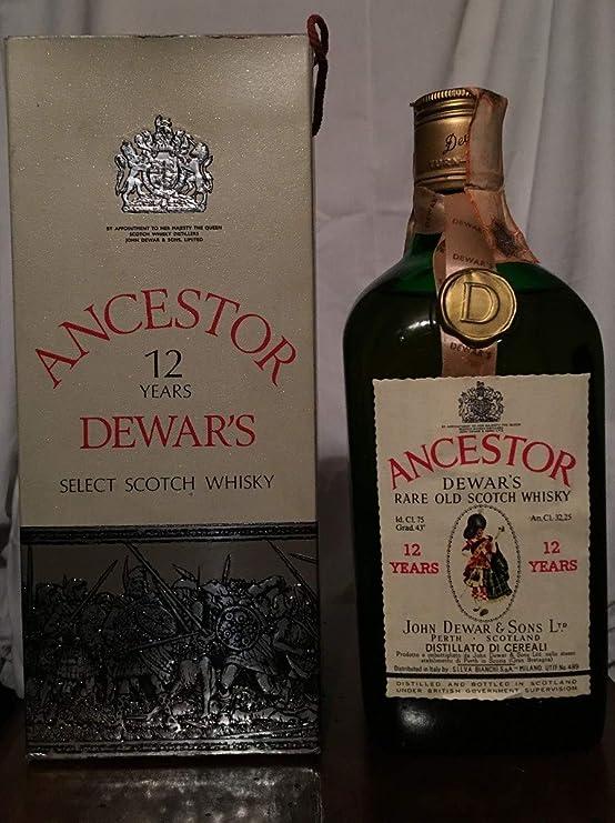 Ancestor 12yo Dewars Rare Old Scotch Whisky con estuche 75cl: Amazon.es: Alimentación y bebidas