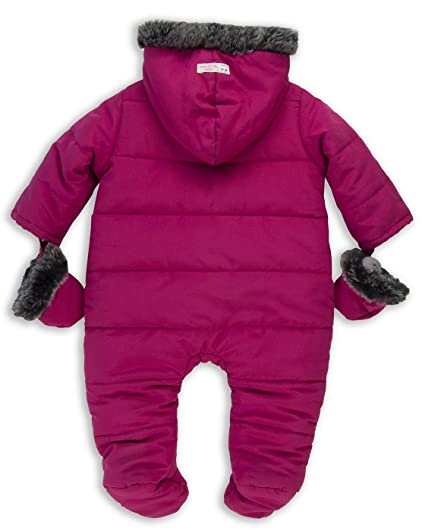 54f32031f The Essential One - Baby Girls Fur Trimmed Snowsuit Pramsuit ...