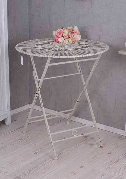 Gartentisch rund metall antik  Gartentisch Metall Antik Eisentisch Garten Tisch Shabby Chic Weiss ...