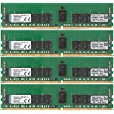 Kingston Technology 32GB RAM Kit (4x8GB) 2133MHz DDR4 ECC Reg CL15 DIMM SR x 4 with TS Server Memory