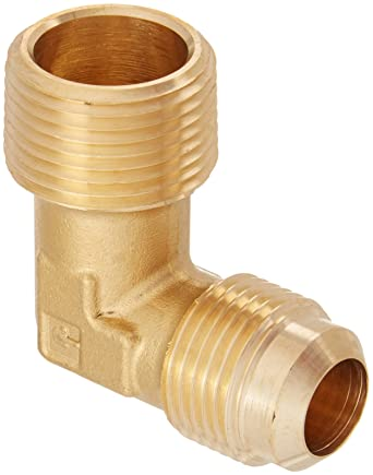 45 Degree Flare Fitting 3//8 Flare Tube x 3//8 Male Thread Parker Hannifin 149F-6-6 Brass 90 Degree Forged Male Elbow