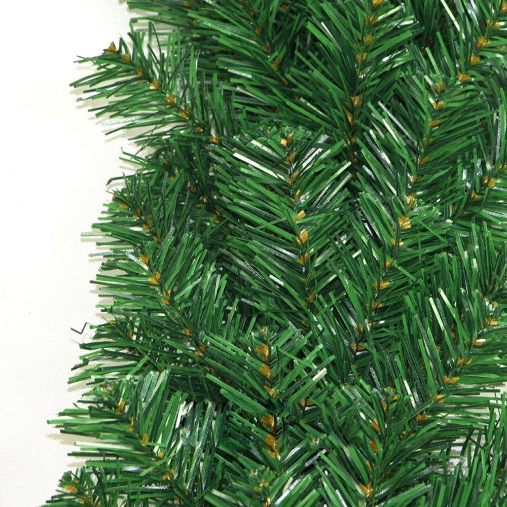Christmas Wreath Christmas Decorations Green Encryption Rattan Hotel Door Decoration Christmas Rattan Circle Wreath(length 270CM) by LEILEI (Image #2)