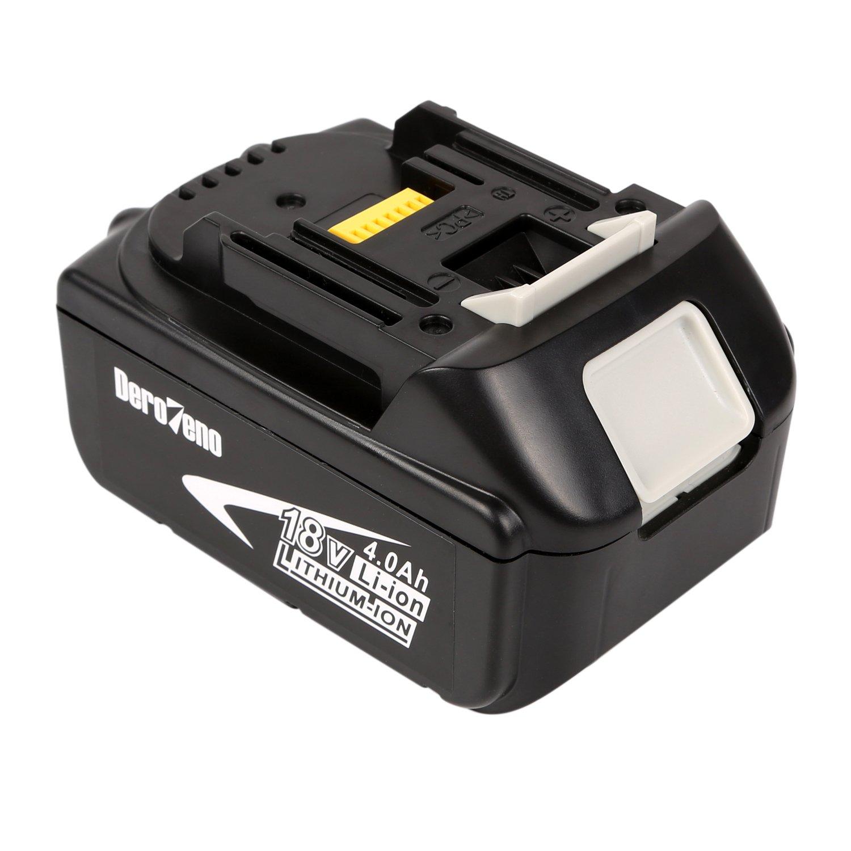 DeroTeno Batterie Li-Ion 18 V 4,0 Ah Batterie Pour Makita 194205-3,194309-1, BL1815, BL1830 LXT400