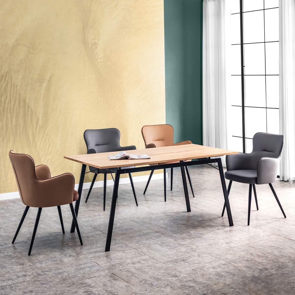 Mc Haus Poltrona Elephant sedia  design sala da pranzo,Grigia Safari  53x45x89cm